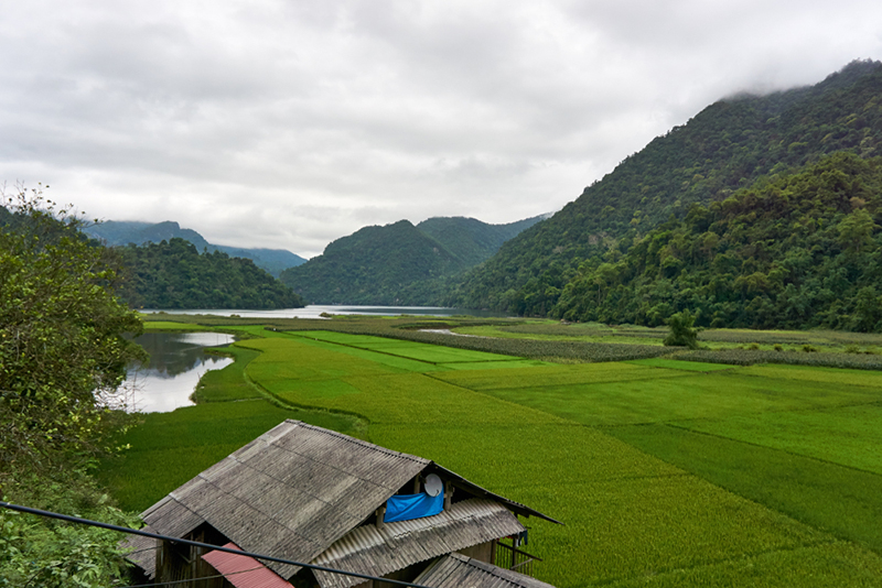 Ba Be Lakes - View from Pac Ngoi village