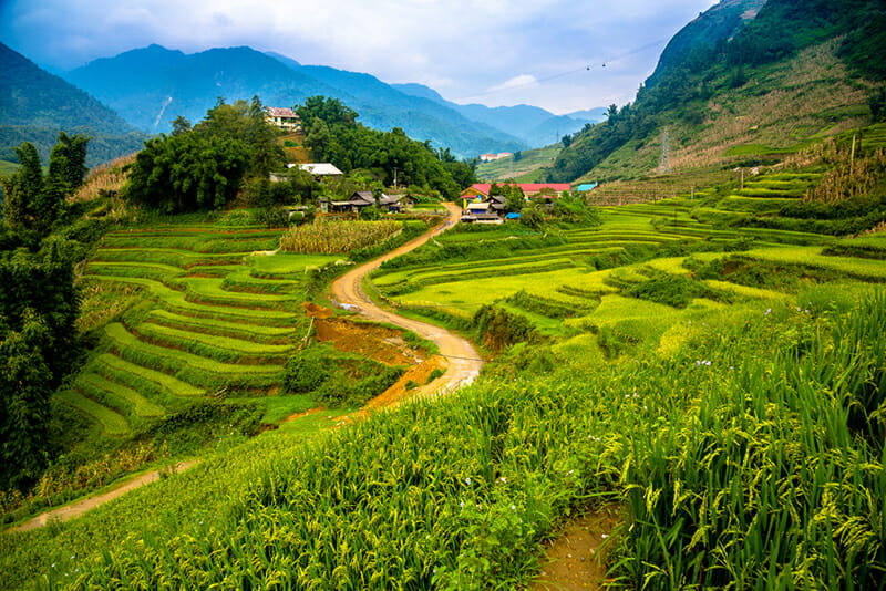 Beautiful view in Cat Cat village - Sapa