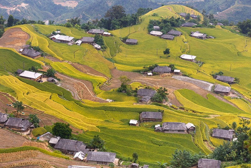 Hoang Su Phi rice terraced fields are the wonderful work created by the hardworking of local people