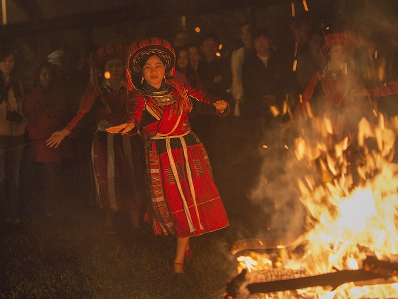 Pa Then Fire dance festival is usually held every year in new year's eve of the old year and the new year