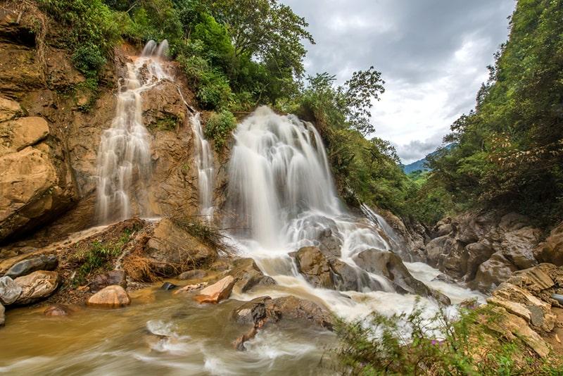 Silver Waterfall in Cat Cat village