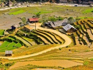 Ta Van village rice terraced fields, Sapa