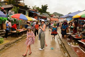 Tourists at Bac Ha Market
