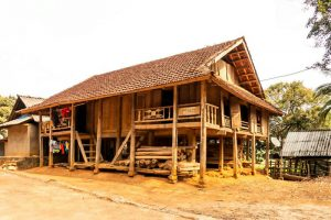 Thai stilt house in Mai Chau