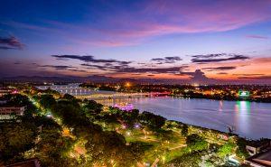 Beautiful Sunset in Perfume River - Hue Vietnam