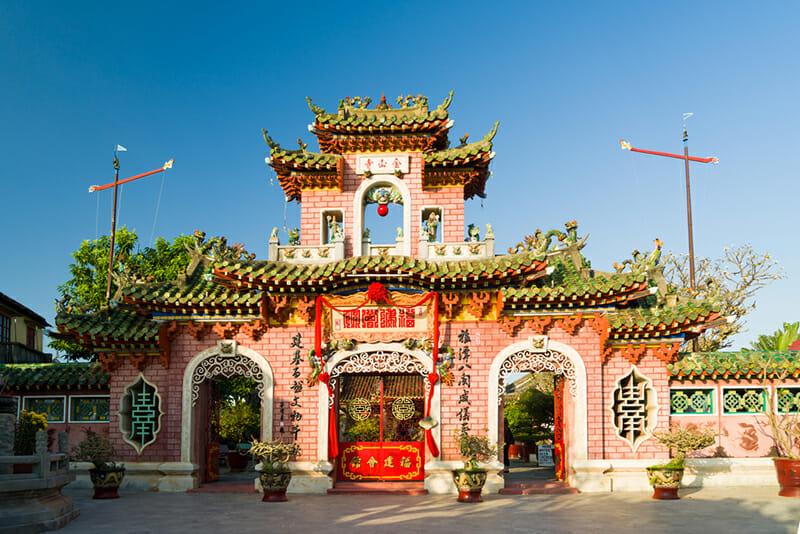 Gate of Phuc Kien Assembly Hall, Hoi An, Vietnam