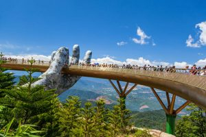 Golden Bridge in Bana hill - Da Nang Vietnam