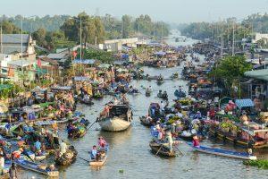 Floating Market - Mekong Delta