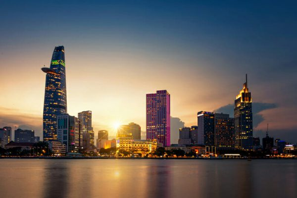 Ho Chi Minh City Skyline view from Sai Gon River