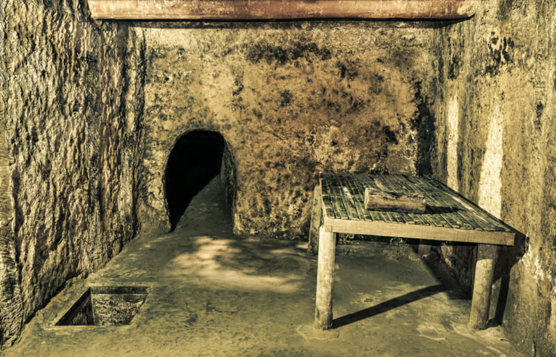 Shelter in Cu Chi Tunnels